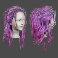 Character - Real Time Female Long Hair 01