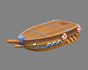 pier boat 3D model