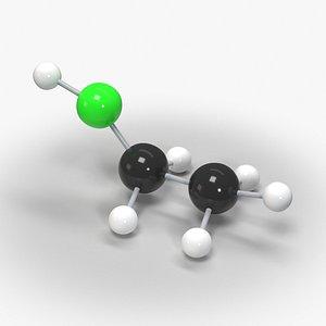 3D model Ethanol Molecular Model