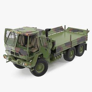3D Oshkosh FMTV Camouflage Cargo Truck 6x6 Rigged