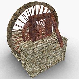 3D water wheel model