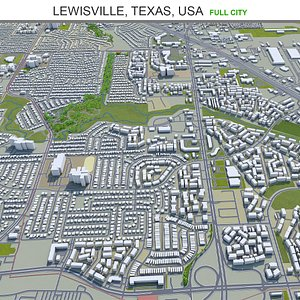 Lewisville Texas USA 3D model