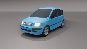 3D fiat panda 2004 model