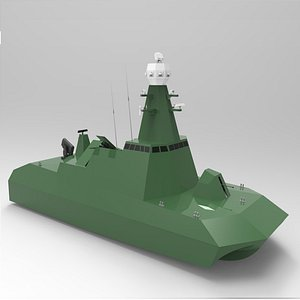 torpedo boat model
