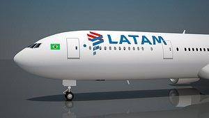 3D model latam airlines 777
