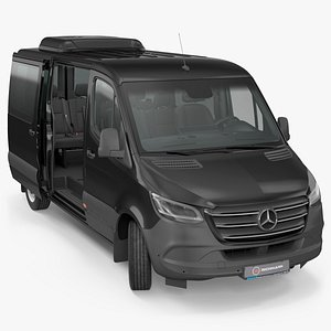 3D Mercedes Sprinter Tourer 319 Rigged