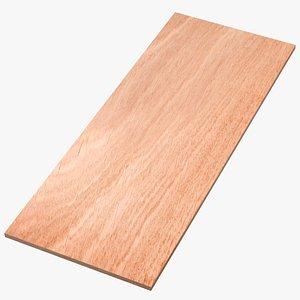 3D model wood board