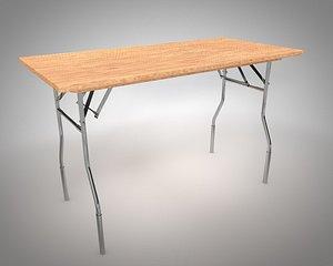 folding table model