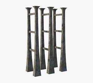 3D Highway Concrete Pillar