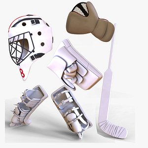 ice goalie hockey 3D