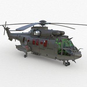 Eurocopter EC 725 3ds max Vray 3D model