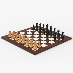 3D Chess Complete Set model