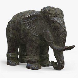 3D statue elephant