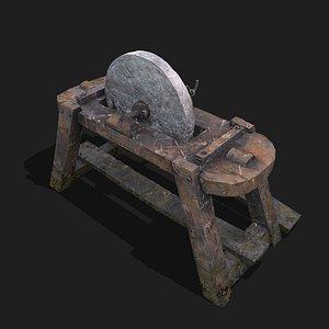 3D model Medieval Grindstone