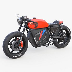 electric motorcycle Exide 3D model