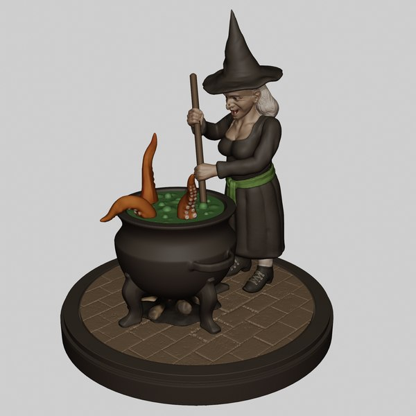 3D model witch monster