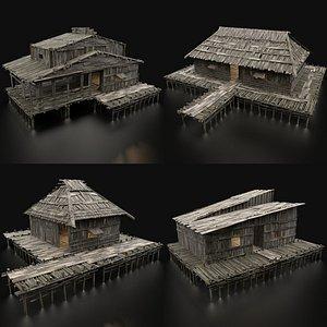 3D swamp wetland house
