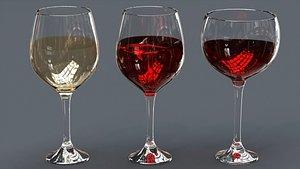 Drink Set - Wine Glasses 3D