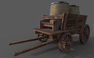 3D ready wooden cart