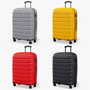 3D Travel Rolling Suitcase X4 Package PBR