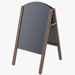 3D menu board model