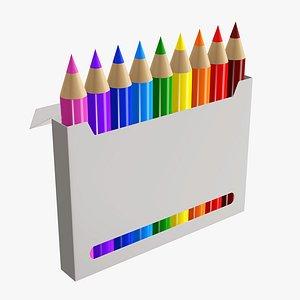 3D pencil box color model