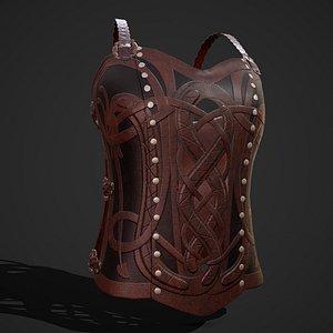 chest armor female 3D model