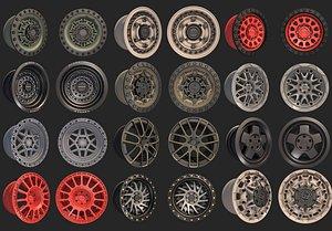 black rhino wheels pack 2 3D model