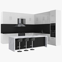 Kitchen Unit With Island Counter