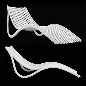 Vondom Ibiza Sun Lounger by Eugeni Quitllet 3D model