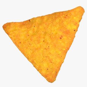 3D tortilla cheese cracker 01 model