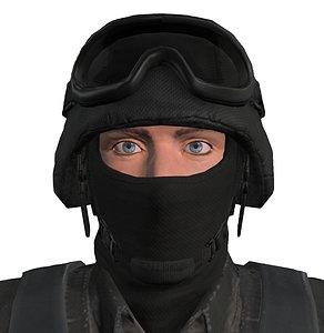 3D swat police officer