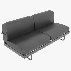 3D sofa le corbusier cassina model