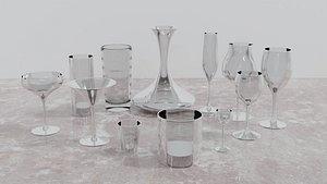3D Set of Glasses model