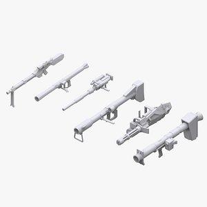 gundam zeon weapon 3D model
