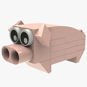 3D Lego Pig Animal
