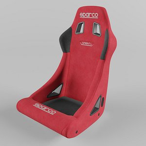Sparco SPRINT L Sports Racing Seat Suede Red 3D model