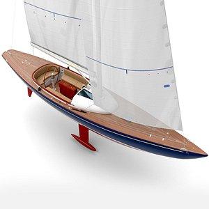 3D leonardo yacht eagle 44 model