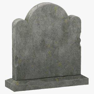 3D tombstone 05 model