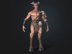 faun warrior character model