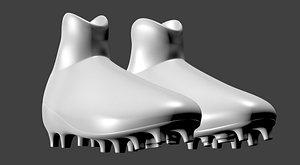 3D pair modern football boots model
