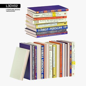 3D literature architectural books model
