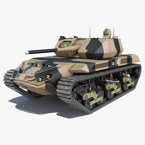 3D Robotic Electric Tank Camo model