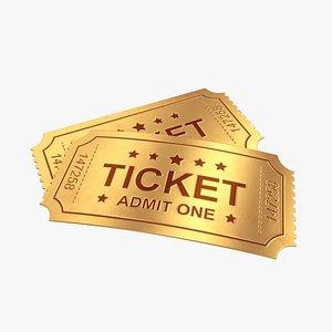 3D ticket gold model