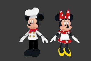 3D mickey minnie model
