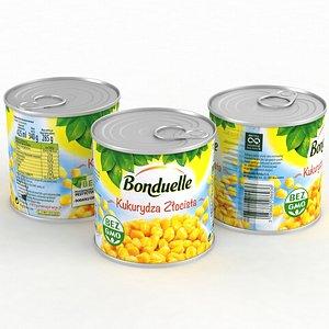 Food Can Bonduelle Golden Corn Maize 340g 2021 model
