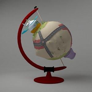 3D earth cartoon