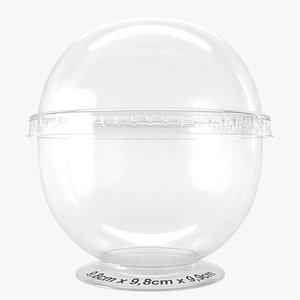 3D plastic bowl model