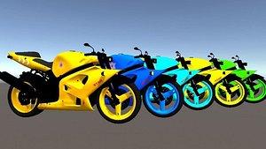 hot bikes simple 3D