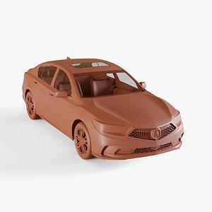 3D acura rlx sport model